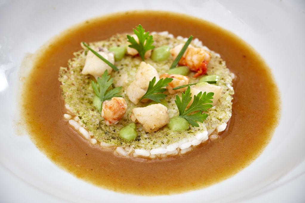 Guarnició per a la sopa de peix i marisc